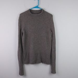 Madewell Inland Turtleneck Sweater Wool Blend Gray